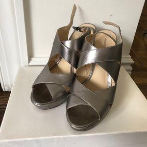 Alexandre Birman Silver Platform Sandals